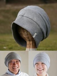 医療用帽子 2040 杢グレーだんだん帽子