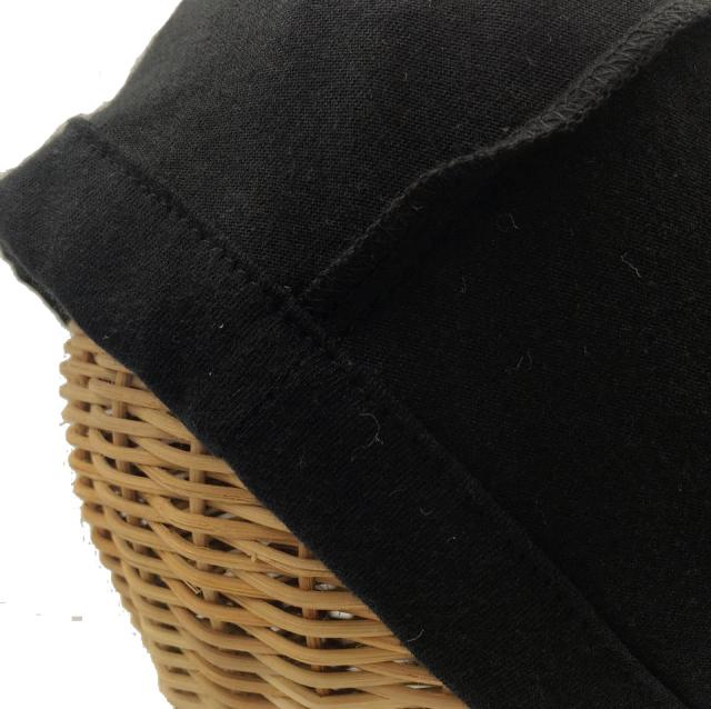 医療用帽子 真っ黒 超薄帽子 内側
