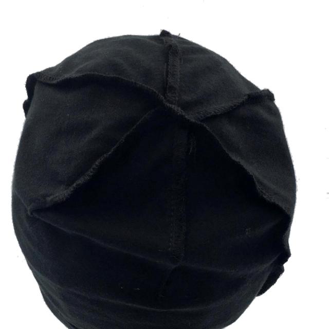 医療用帽子 真っ黒 超薄帽子