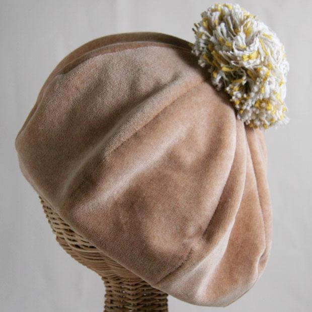 ベルベットベレー帽子