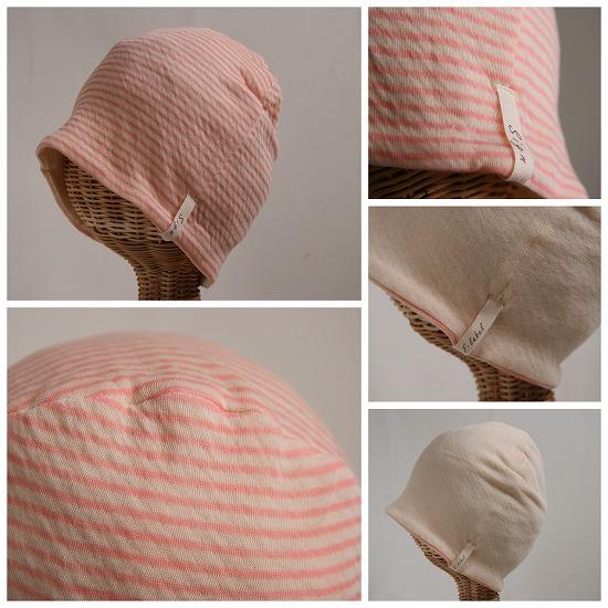 ピンクボーダー帽子