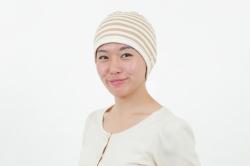 茶綿太ボーダー帽子