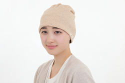 茶綿タオル帽子