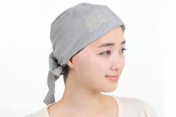 グレーバンダナ帽子