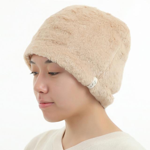 医療用帽子 ボア帽子 茶綿  冬用 2143