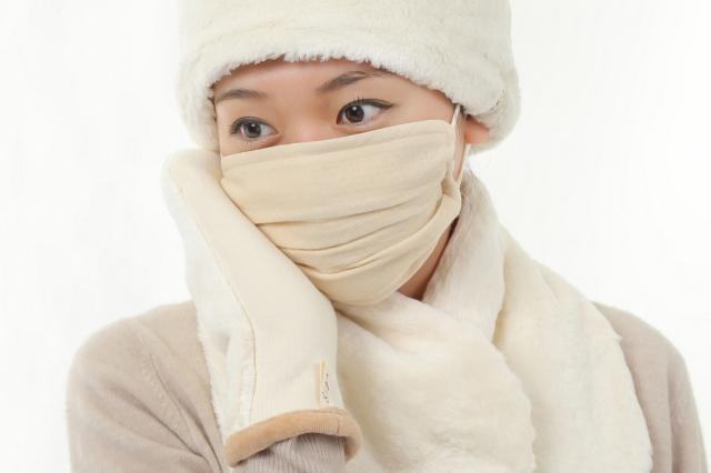 ボア帽子・襟マフ・マスク・のイメージ(白)