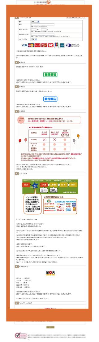 3.お客様情報入力決済方法画面
